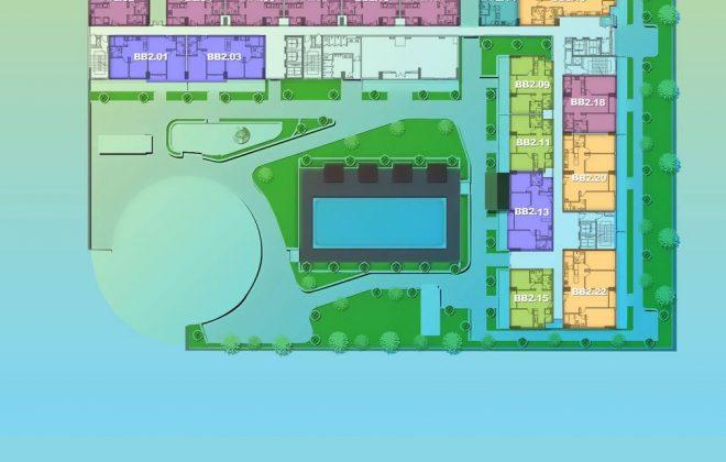 Layout Mặt Bằng Tầng Điển Hình - Tầng 2 - Tòa Babylon - New City