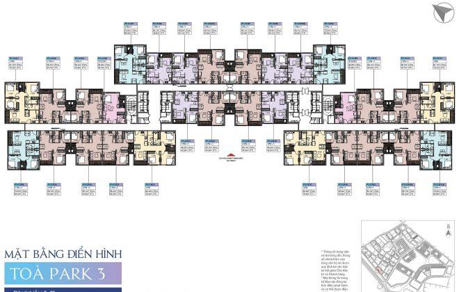 Layout Mặt Bằng Tầng Điển Hình - Tầng 2-26- Tòa chữ U - VinCity Grand Park