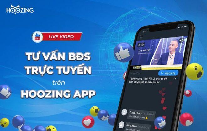 giới thiệu tính năng livestream trên Hoozing App