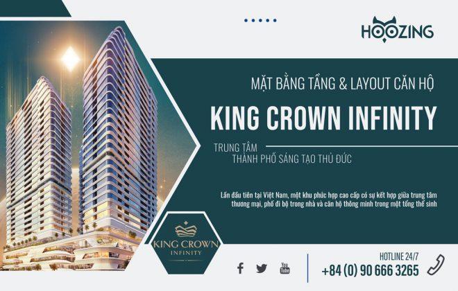 Mặt bằng tầng và layout thiết kế căn hộ King Crown Infinity